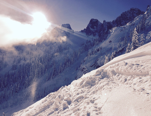 Pineapple Pass backcountry skiing