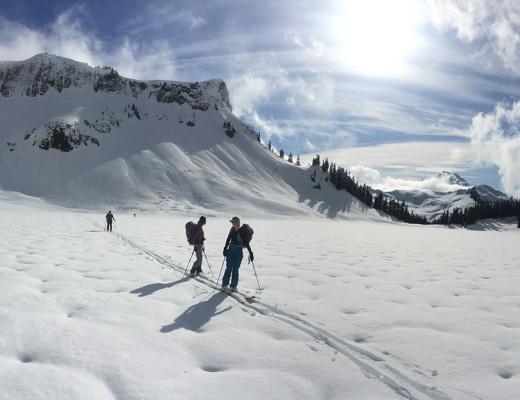 backcountry skiing mt. baker