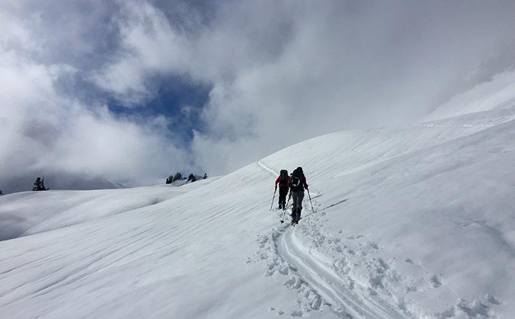 Backcountry skiing Table Mountain Mt. Baker