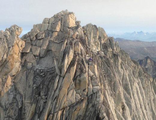 Climbing NE Ridge Bugaboo Spire